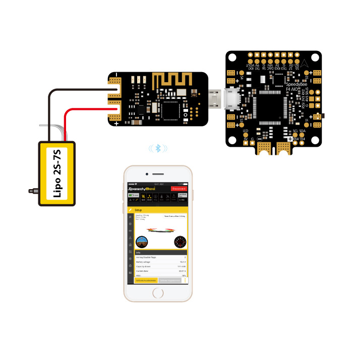 Image 4 - RunCam Speedybee Bluetooth USB Adapter 2nd Generation Module Supported with iOS and Android for FPV Flight Controller Quadcopter-in Parts & Accessories from Toys & Hobbies