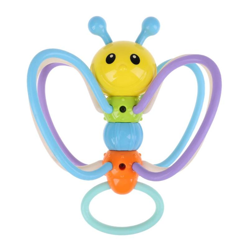 Infant Cute Hanging Bee Baby Bees Rattle Tooth Glue Hand Grabbing Ball Baby Cartoon Toys Plastic Sterilized by Boiling Water