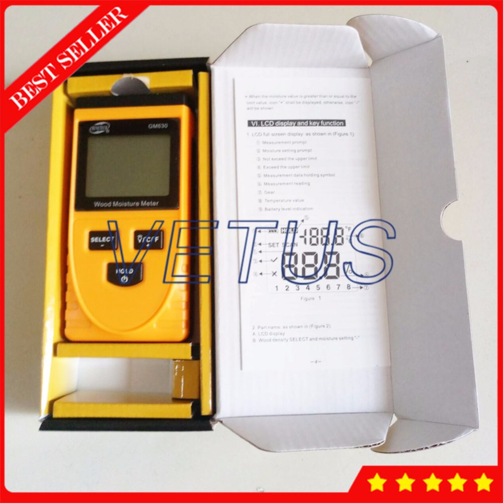 GM630 Wood Moisture Tester with LCD Display