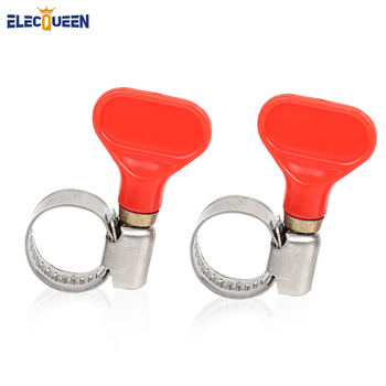 2pcs/lot OD 8-12mm Wide 9 mm Stainless Steel Butterfly Hose Clips Pipe Clamps Fit for tubing home brewery image
