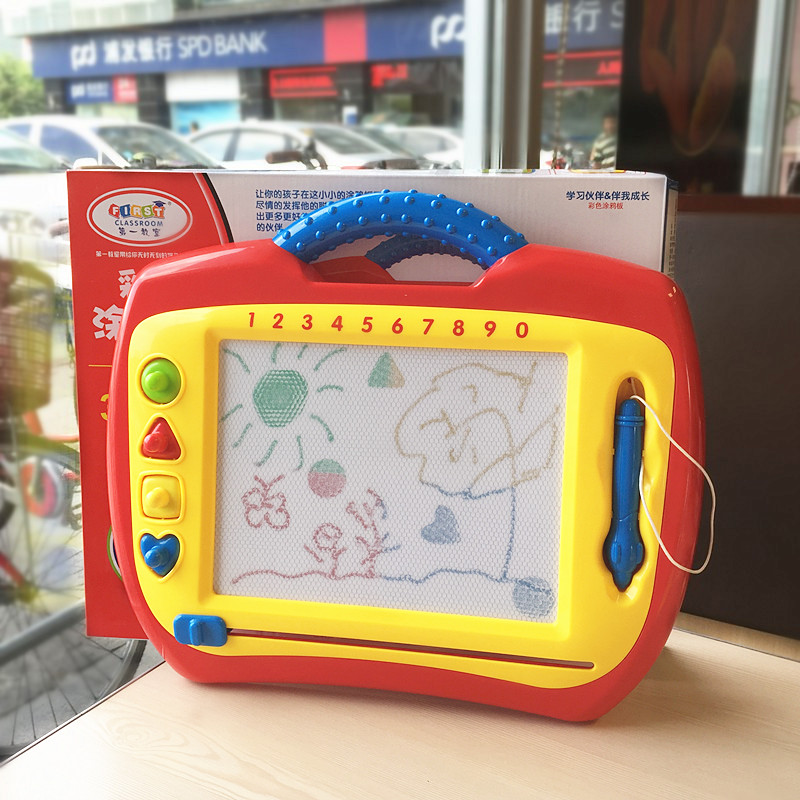 Portable Magnetic Drawing Board with Stamps Kids Creative ...