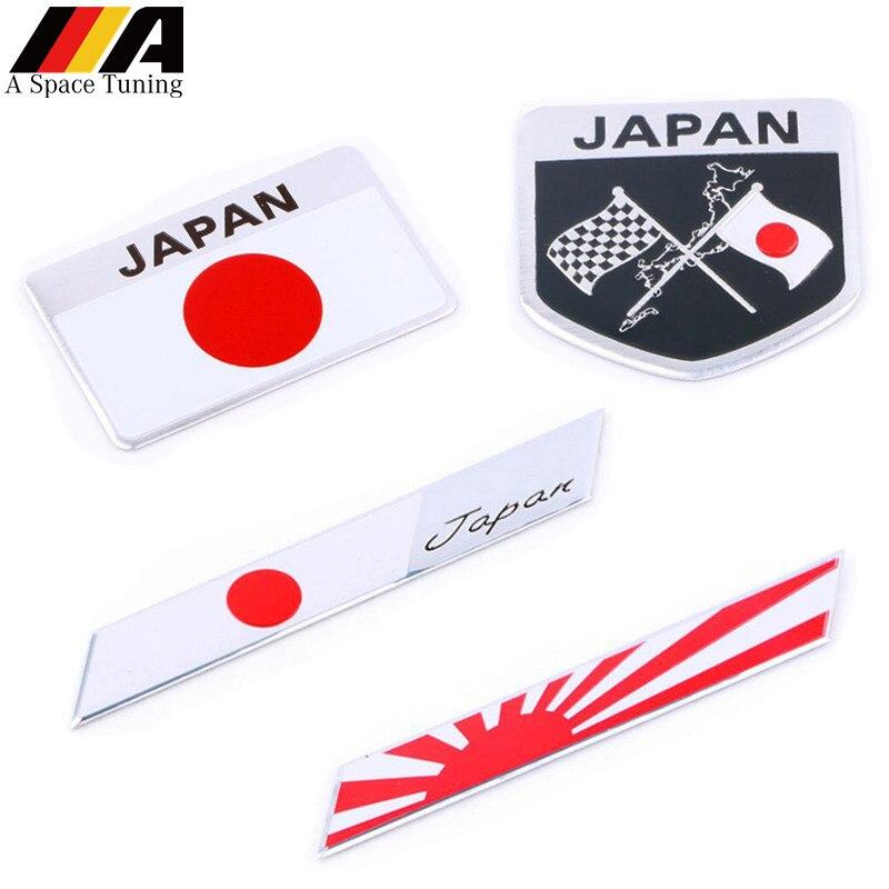 SUZUKI YAMAHA BIKE JAPAN FLAG JAPANESE EMBLEM BADGE JDM