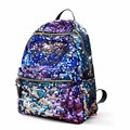 2016 Hot New Famous Fashion Brand Women Backpack Sequins Purple Red Black Backpacks PU School Bag for Girls Mochila Rasck XA881B