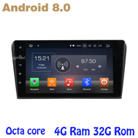 9 inch screen for mazda 3 2004 2009 Android 8.0 Octa core PX5 car radio gps with 4G RAM 32G ROM wifi 4g usb auto Multimedia