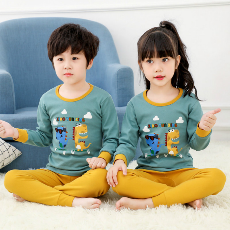 Boys Girls   Pajamas     Set   Christmas Sleepwear Cartoon Girls   Pajama   Children Clothing   Sets   Cotton Pyjamas kids Clothes 2-13 Years