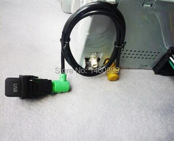 usb switch socket cable kit for vw volkswagen golf 5 6. Black Bedroom Furniture Sets. Home Design Ideas