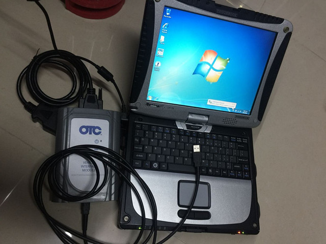 Flash Promo otc it3 for toyota diagnostic scanner software installed in laptop cf-19 touch screen ready to use  Global Techstream GTS cable