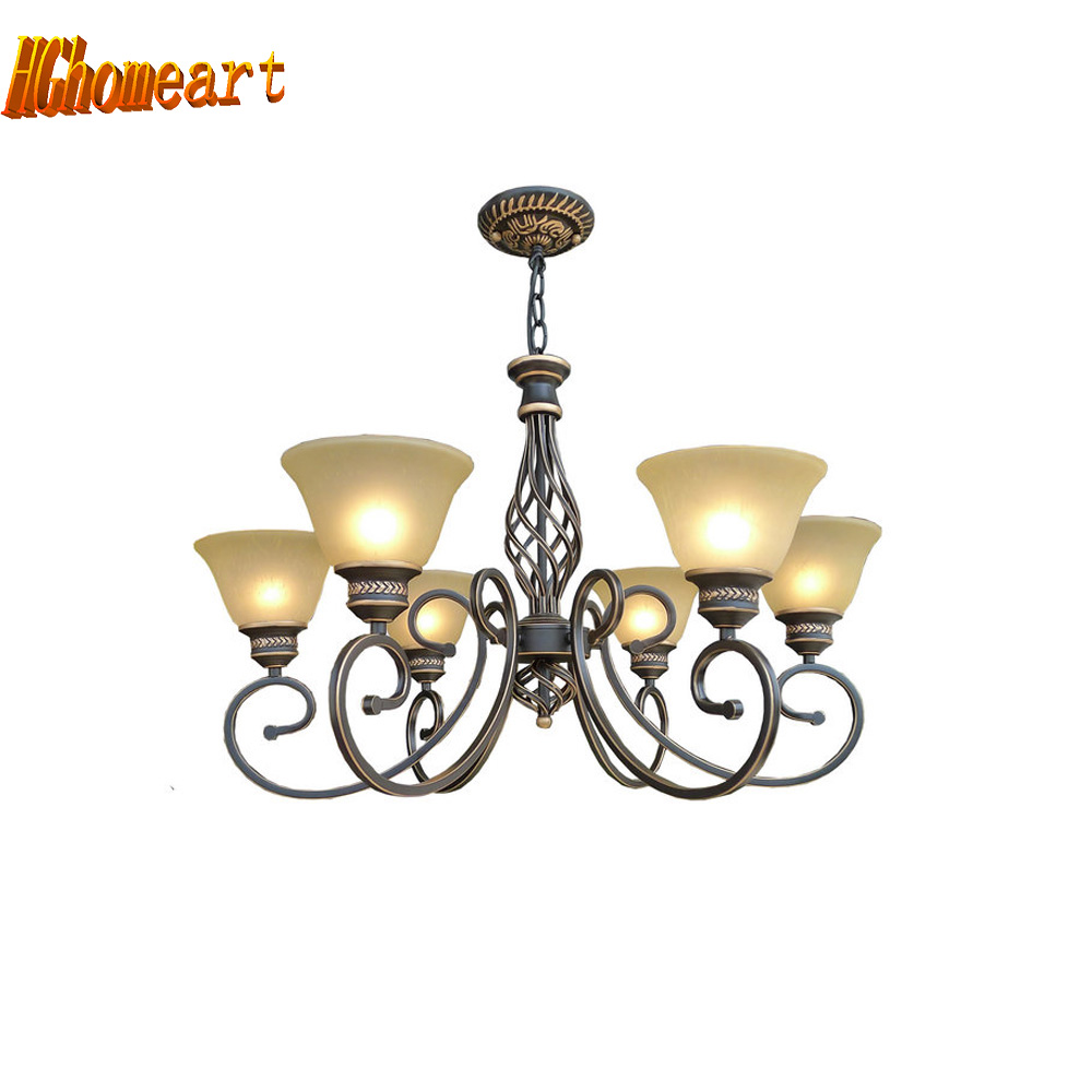Hghomeart Nordic Retro Chandelier E27 Bulb Suspension Home Lighting Living Loft Style Led Antique Iron Luxury Chandeliers mordern nordic retro edison bulb light chandelier vintage loft antique adjustable diy e27 art spider ceiling lamp fixture lights
