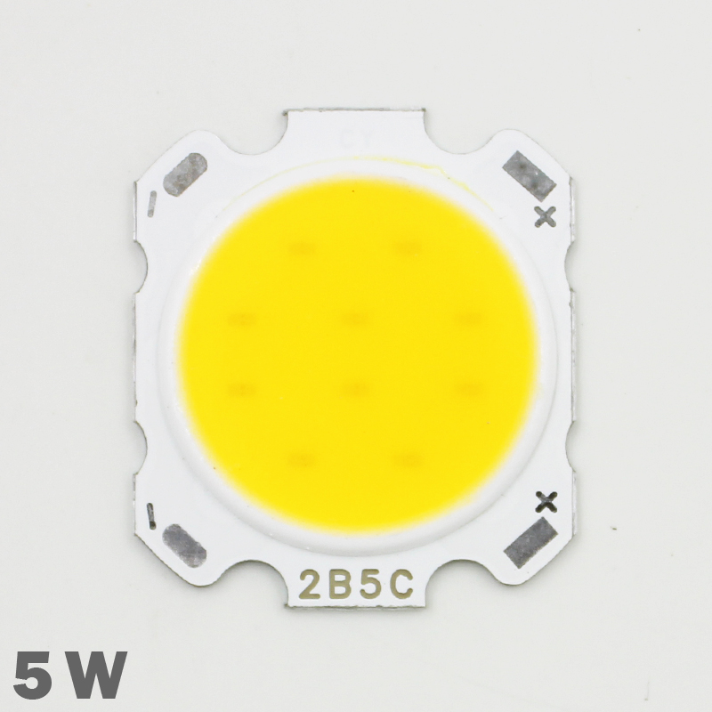 10pcs LED COB Lamp Chip 5W 300-350lm DC 15-18V  28mm-20mm Chip Size Cold/Warm White For DIY LED Floodlight Spotlight Bulb Lamp