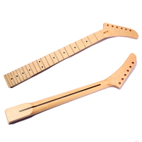 Guitar Accessories 22 Fret Maple Banana Electric Guitar Neck Dot Inlay For ST Parts Replacement