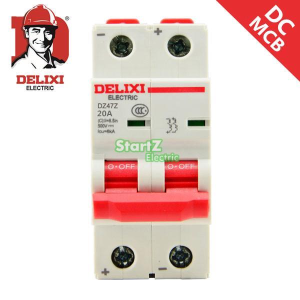Disjoncteur cc 20A 2 P DC250V DZ47Z DELIXI MCBDisjoncteur cc 20A 2 P DC250V DZ47Z DELIXI MCB