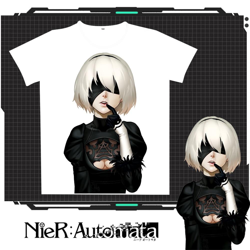 New Nier : Automata 2B 캐주얼 티셔츠 여름 남성 여성 - 남성 의류 - 사진 5