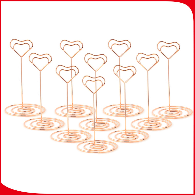 12Pcs Wedding Photo Holder Stands Table Number Holders Card Paper Menu Clips