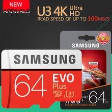 SAMSUNG EVO + Cartão De Memória de 16 GB/32 GB/SDHC 64 GB/128 GB/256 GB/SDXC Micro SD TF Cartão Microsd Class10 C10 UHS-1 Cartões Frete Grátis