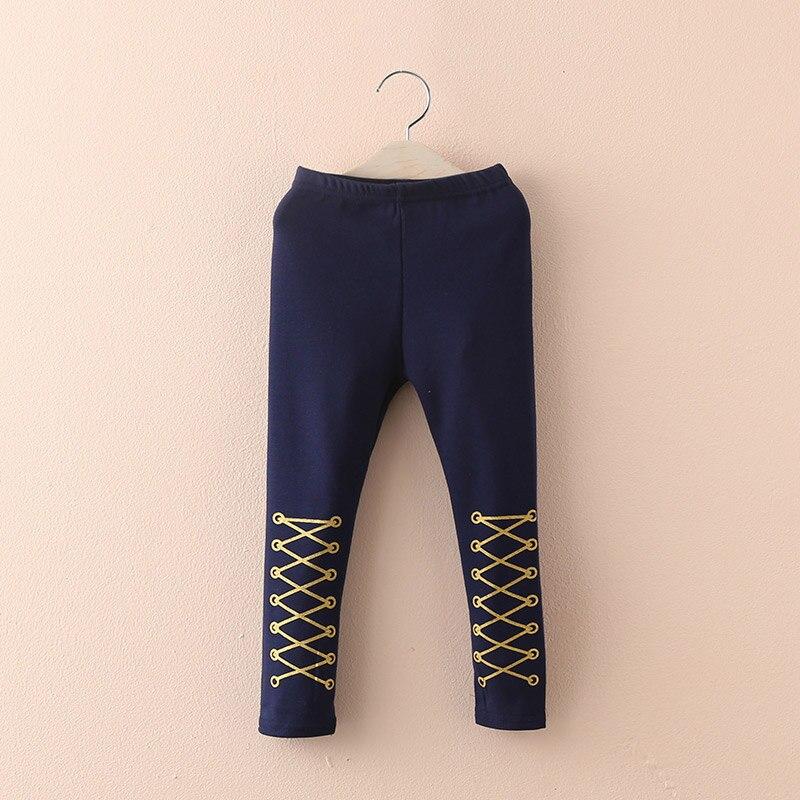 2019 podzim jaro 2 3 4 6 8 10 rok děti šedá modrá černá Capri vzorBaby děti dívky plné délky hubená štíhlé legíny