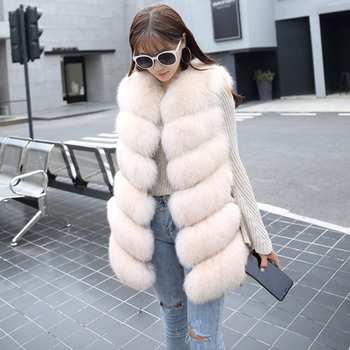 Autumn Winter Faux Fur Coat Women Fashion Korean Elegant Sleeveless Long Vest Woman Casual Slim Luxury Thick Warm Fur Jacket