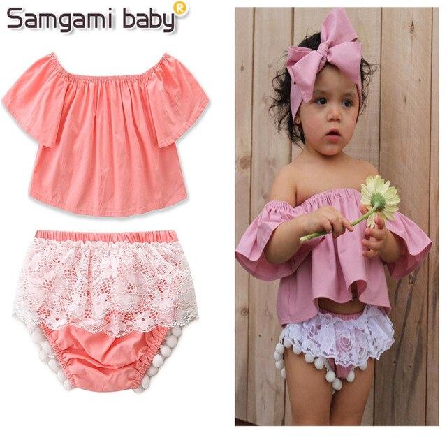 Samgami Baby Beach Party Suit Summer S Clothing Set Short Sleeve Tops Shorts 2pcs Cotton