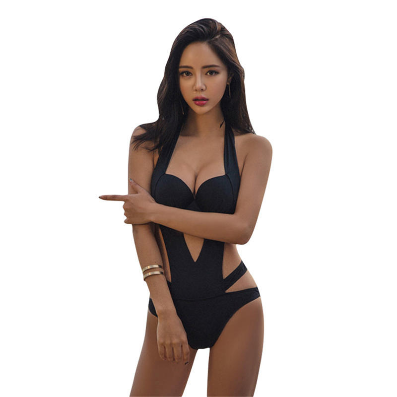 Dedicated New Sexy Halter Cut Out Bandage Trikini Swim Bathing Suit Monokini Brazilian Swimwear Women One Piece Swimsuit Push Up To Be Renowned Both At Home And Abroad For Exquisite Workmanship Sports & Entertainment Skillful Knitting And Elegant Design