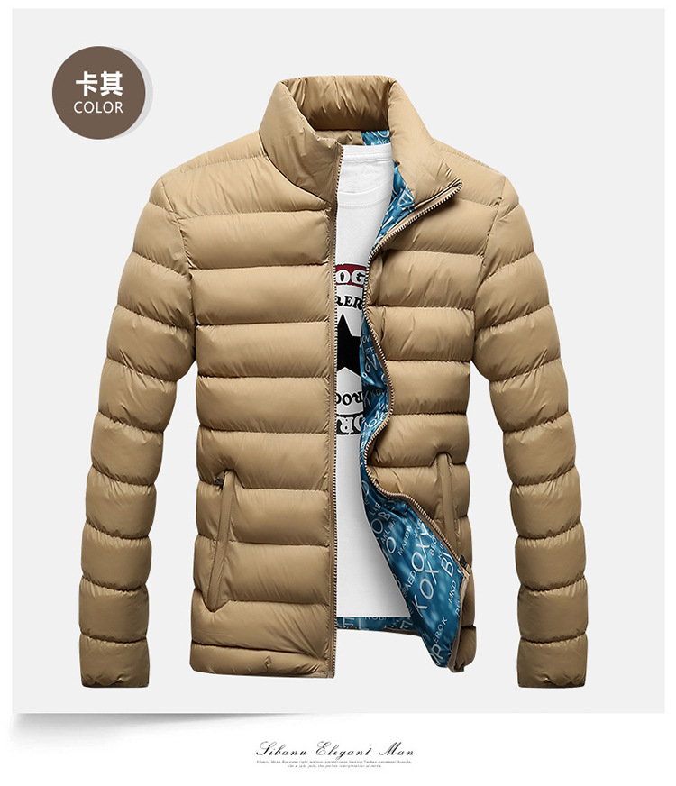 Winter Jacket Men 2019 Fashion Stand Collar Male Parka Jacket Mens Solid Thick Jackets and Coats Man Winter Parkas M-6XL 16