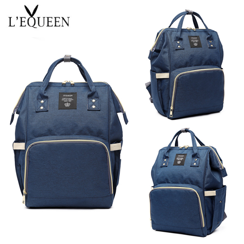 Image 3 - Fashion Mummy Maternity Nappy Bag Large Capacity Baby Bag Travel Backpack Nursing Bag for Baby Care Nappy Hand Bag-in Diaper Bags from Mother & Kids
