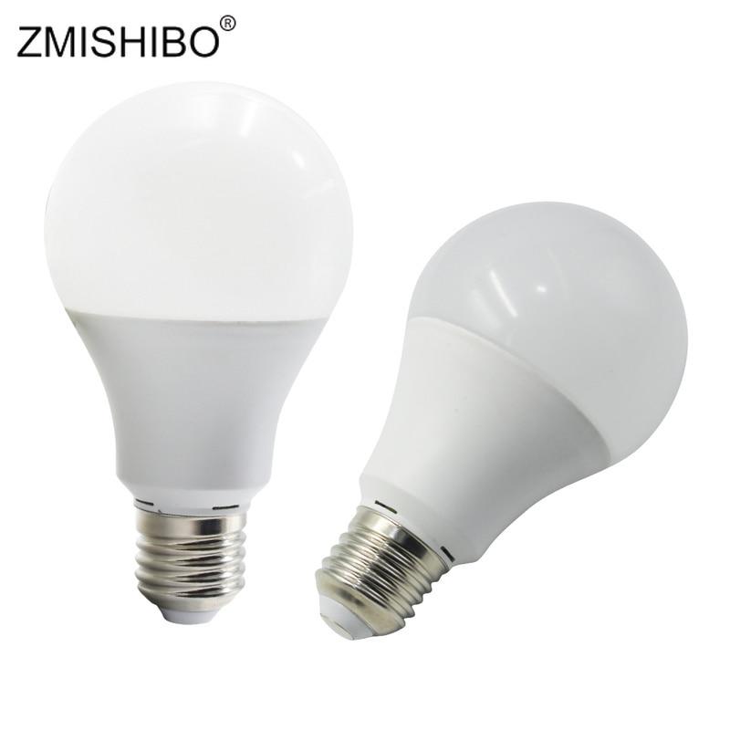 ZMISHIBO PC Aluminum LED A60 E27 Bulbs Living Room Use Super Bright 12W 220V Warm Nature Cold White 3000K 4000K 6000K 5pcs/Lot