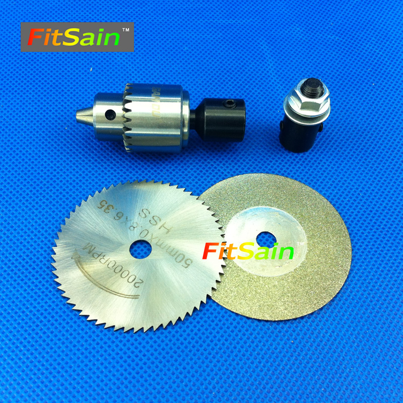 FitSain--Used for motor shaft 4mm,5mm,6mm,8mm Diamond Cutting Discs Saw blade 50mm Drill chuck JT0 0.3-4mm drill machine tool fitsain 4 100mm electric saw blade wood cutter cutting disc used for motor shaft 5mm 6mm 8mm 10mm 12mm for adapter coupling