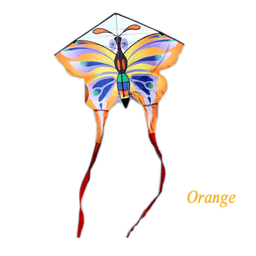 New Arrive Outdoor Fun Sports Butterfly Kite With Long Tail / Animal Kites With Handle & Line