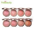 Hot style 8 cores flor cozimento maquiagem makeup palette blush baked mineralize blush cheek color blush paleta pétala poder rosto