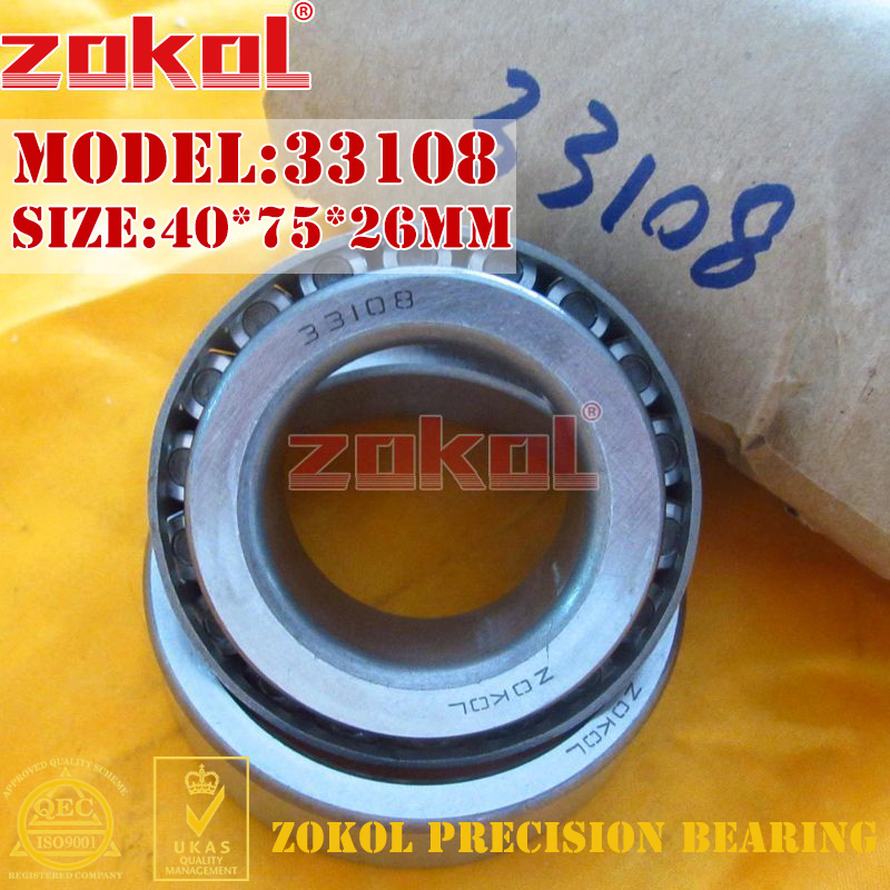 ZOKOL bearing 33108 3007708E Tapered Roller Bearing 40*75*26mm na4910 heavy duty needle roller bearing entity needle bearing with inner ring 4524910 size 50 72 22