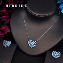 HIBRIDE Beautiful Shape AAA Cubic Zirconia Jewelry Sets For Women Bride Necklace Set Wedding Accessories Wholesale N-501(China)