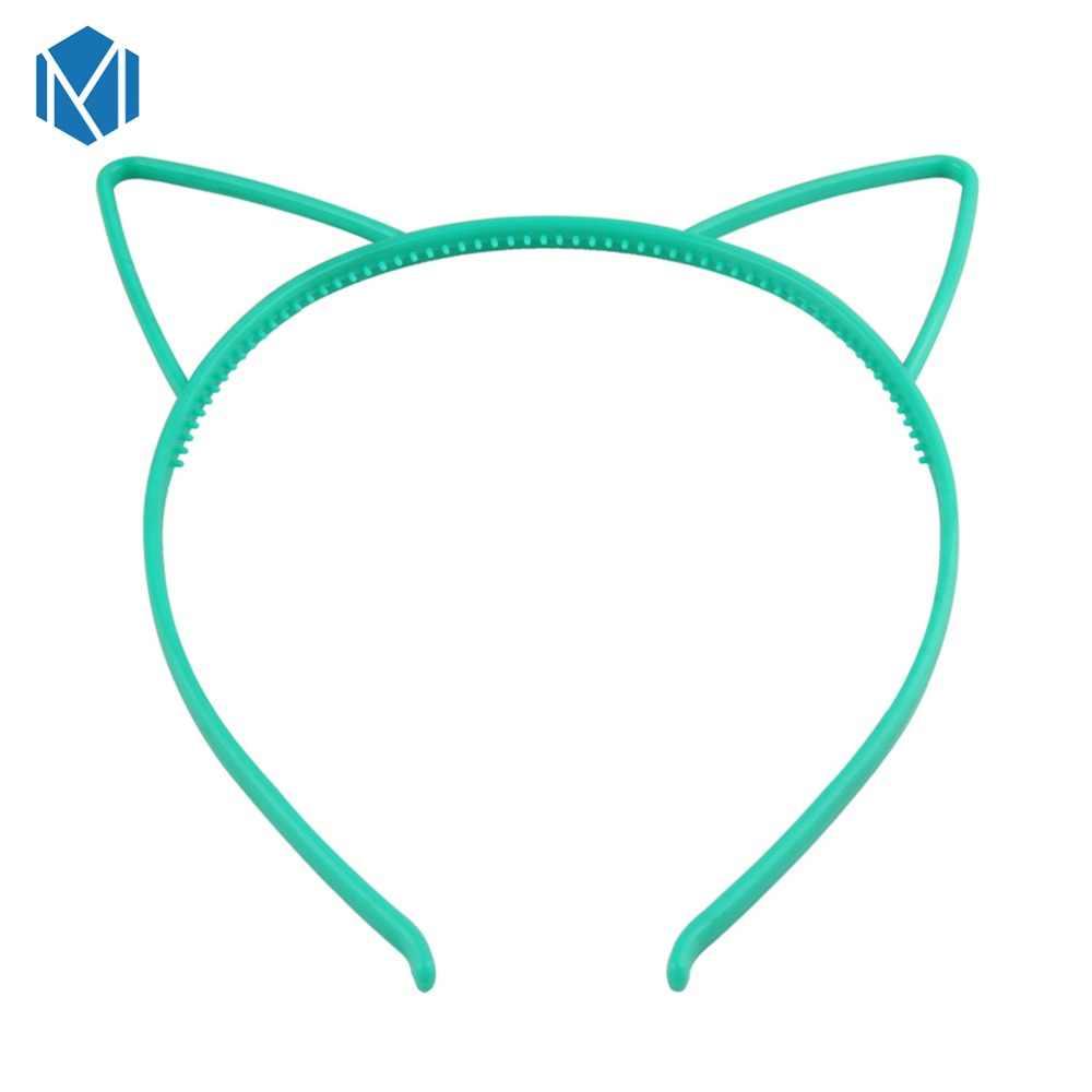 M MISM เด็กน่ารัก Candy สีผมเรซิ่นคอสเพลย์แมวหูแถบคาดศีรษะ Hoop Hairbands Headwear อุปกรณ์เสริมผม