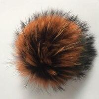 ใหม่Fashoin M Ulticolorจริงแรคคูนมิงค์ลูกขนสุนัขจิ้งจอกที่มีสีสันขนฤดูหนาวปอมปอม15