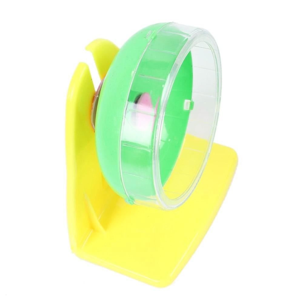 Hamster Running Wheel Toy Gerbil Rat Running Exercise Jogging Wheel 11cm Plastic Hamster Wheel Random Color with Box