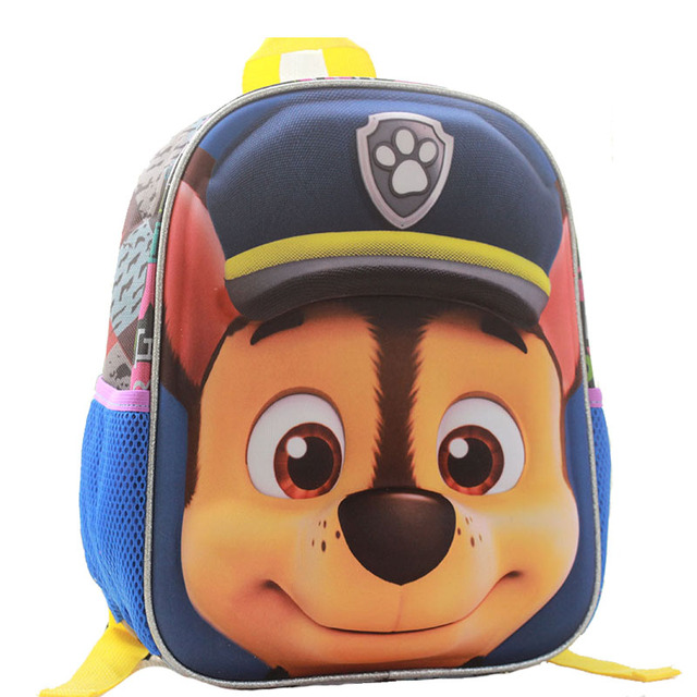Kids Cartoon School bags For Boys/girls Waterproof 3D dog Backpack Children  Primary School bags Puppy Mochilas rucksacks X919