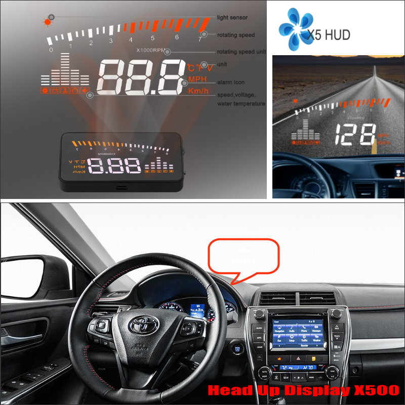 ФОТО For Toyota Camry / Prius 2015 2016 Car Head Up Display Saft Driving Screen Projector - Refkecting Windshield