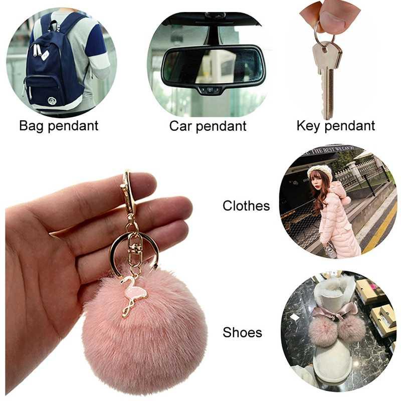 لطيف يونيكورن المفاتيح Pompom المنتقمون سلسلة مفاتيح كما مجوهرات الفراء سلسلة مفاتيح على شكل كرة منفوش بوم بوم كيرينغ للنساء حقيبة سيارة حلقة رئيسية