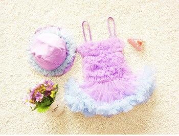 2017 Girls summer gauze tutu princess swimsuit  , swimsuit for baby girl , 4pcs/lot  WZ20