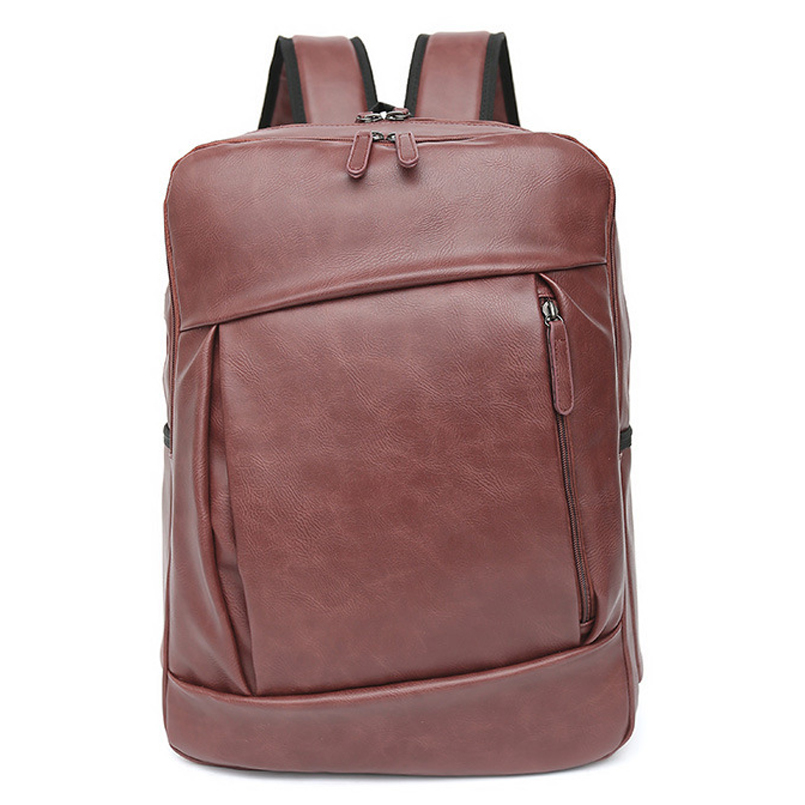 2017 Pu Leather Men's Backpack Bag Brand 14 inch Laptop Notebook Mochila for Men Waterproof Back Pack school backpack bag 14 15 15 6 inch flax linen laptop notebook backpack bags case school backpack for travel shopping climbing men women