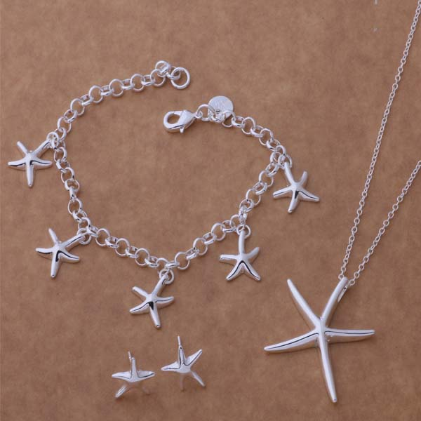 AS085 Hot 925 sterling  silver Jewelry Sets Bracelet 124 + Necklace 281 + Earring 280 /adpaiuwa akcajbja mariposa en plata anillo