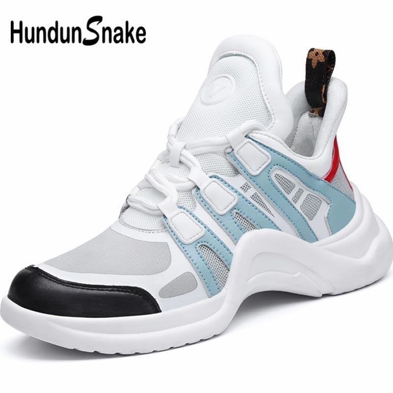Hundunsnake Breathable Women's Running Shoes 2019 Womens Tennis Shoes Sneakers Lady Sports Shoe Sport High Top Train White B-065