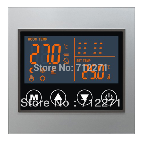 water underfloor heating system LCD display touch screen thermostat programmable thermostat heating temp wifi lcd touch screen temperature control underfloor 16a 230v
