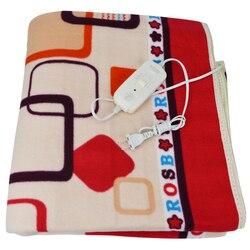 Cobertor aquecedor elétrico 150*120cm cama de casal almofada de pelúcia aquecida cobertor colchão de segurança mais grosso aquecimento esteira corpo mais quente inverno