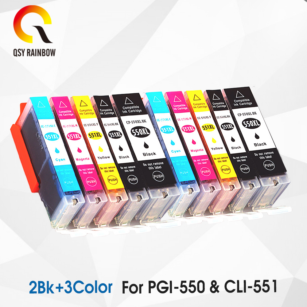 PGI550 CLI551 FOR Canon 10 XL Ink Cartridges PGI 550 CLI 551 for Pixma iP7250 MG5450 MG5550 MG5650 MG5655 MG6350 MG6450 MX925