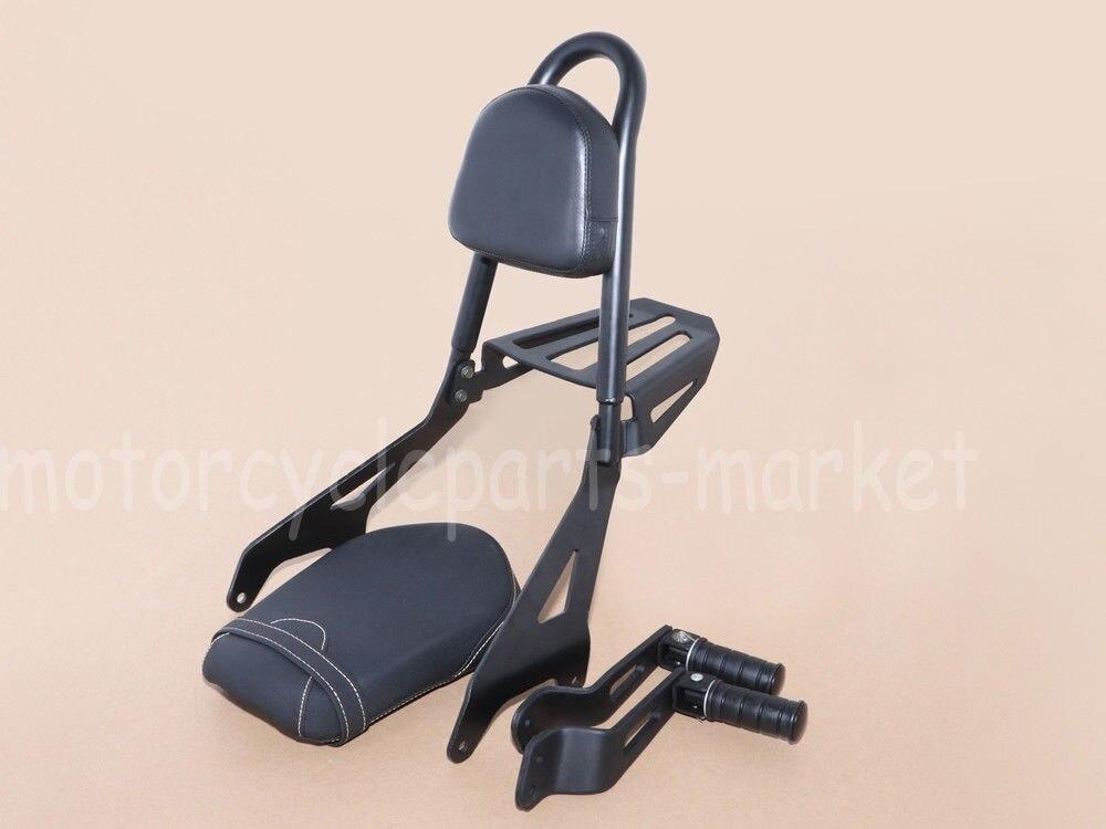 Motorcycles Pad Backrest Sissy Bar Seat Footpeg Footrests For YAMAHA Bolt XVS 950 /R-Spec/C-Spec 2014-2017 2015 2016