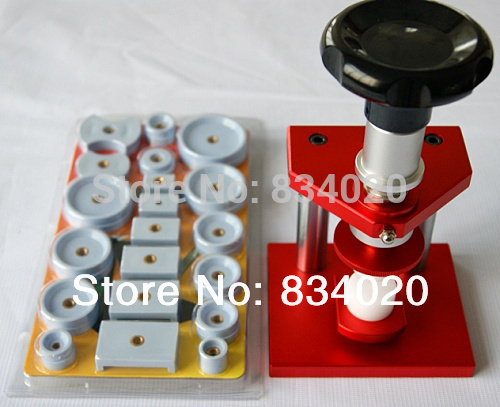 Powerful Red Watch Case Back Pressing Tool and Crystal Closing Tool+20 rubber diesPowerful Red Watch Case Back Pressing Tool and Crystal Closing Tool+20 rubber dies