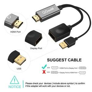 Image 3 - QGEEM HDMI ZU DisplayPort Adapter 4K HDMI ZU DP Kabel HDTV Adapter Konverter Männlichen zu Weiblichen Unterstützung 1080P für HDTV HDMI ZU DP