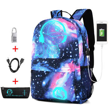 New Anti-thief Bag Luminous School Bags For Boys Girls Student School Backpack Mochila with USB Charging Port Lock Schoolbag - DISCOUNT ITEM  40% OFF All Category