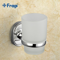 1 Set New Luxury Silvery Aluminum Single Cups Holder Style Toothbrush Cup Holder Wall Bath Cup