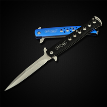 PEGASI  Folding Blade Knife 3Cr13Mov Steel Aluminum Alloy Handle Multifunctional EDC Knives For Fishing Best Gifts
