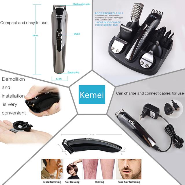 Kemei 11 in 1 Multifunction Hair Clipper professional hair trimmer electric Beard Trimmer hair cutting machine trimer cutter 5